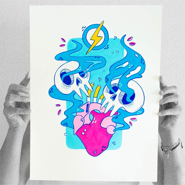 el bosque suena ilustracion grupo musical ezcaray fest-1