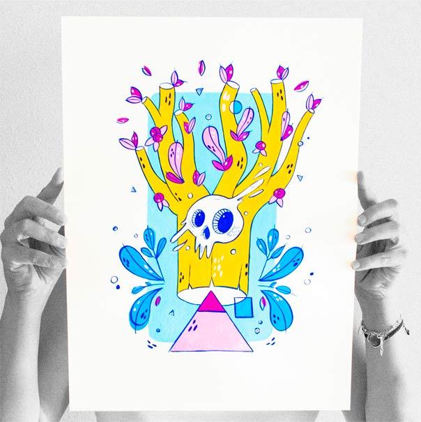 el bosque suena ilustracion grupo musical ezcaray fest-2