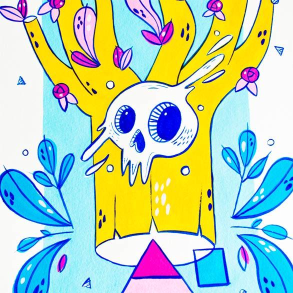 el bosque suena ilustracion grupo musical ezcaray fest-5
