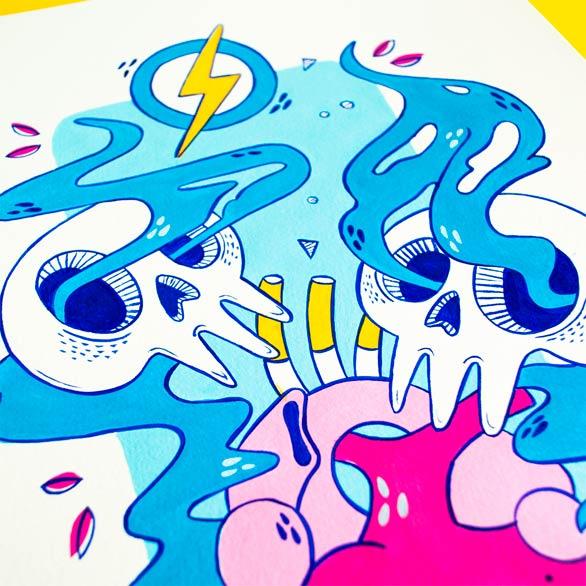el bosque suena ilustracion grupo musical ezcaray fest-7
