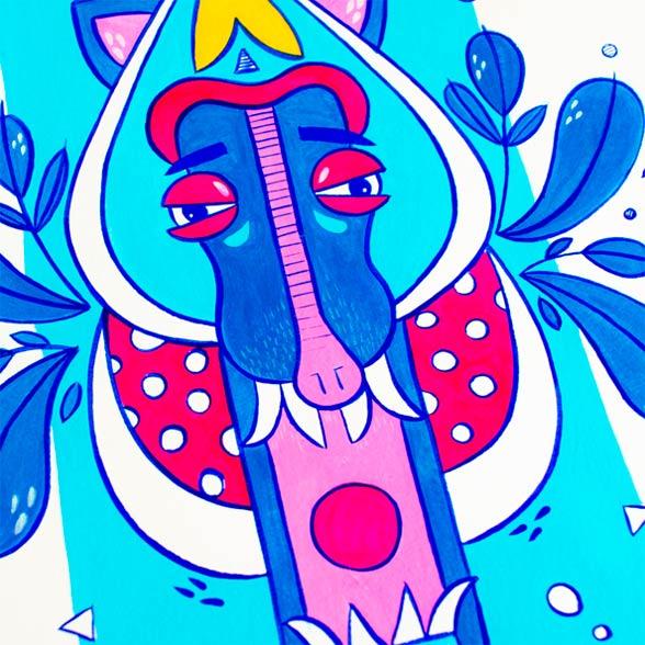 el bosque suena ilustracion grupo musical ezcaray fest-6